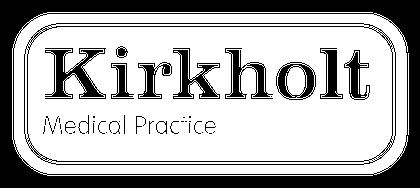 Kirkholt white logo